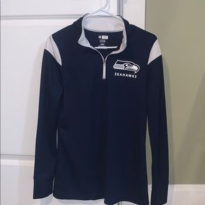 Seattle Seahawks NFL half zip womens
